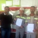 Livramento - Cidimar Veiga Pas (Promovido a Eletricista RDIII) e Rodinei Alex Farias (Promovido a Encarregado II)