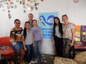 Diretor e colaboradoras da Sirtec na companhia das organizadoras do projeto.