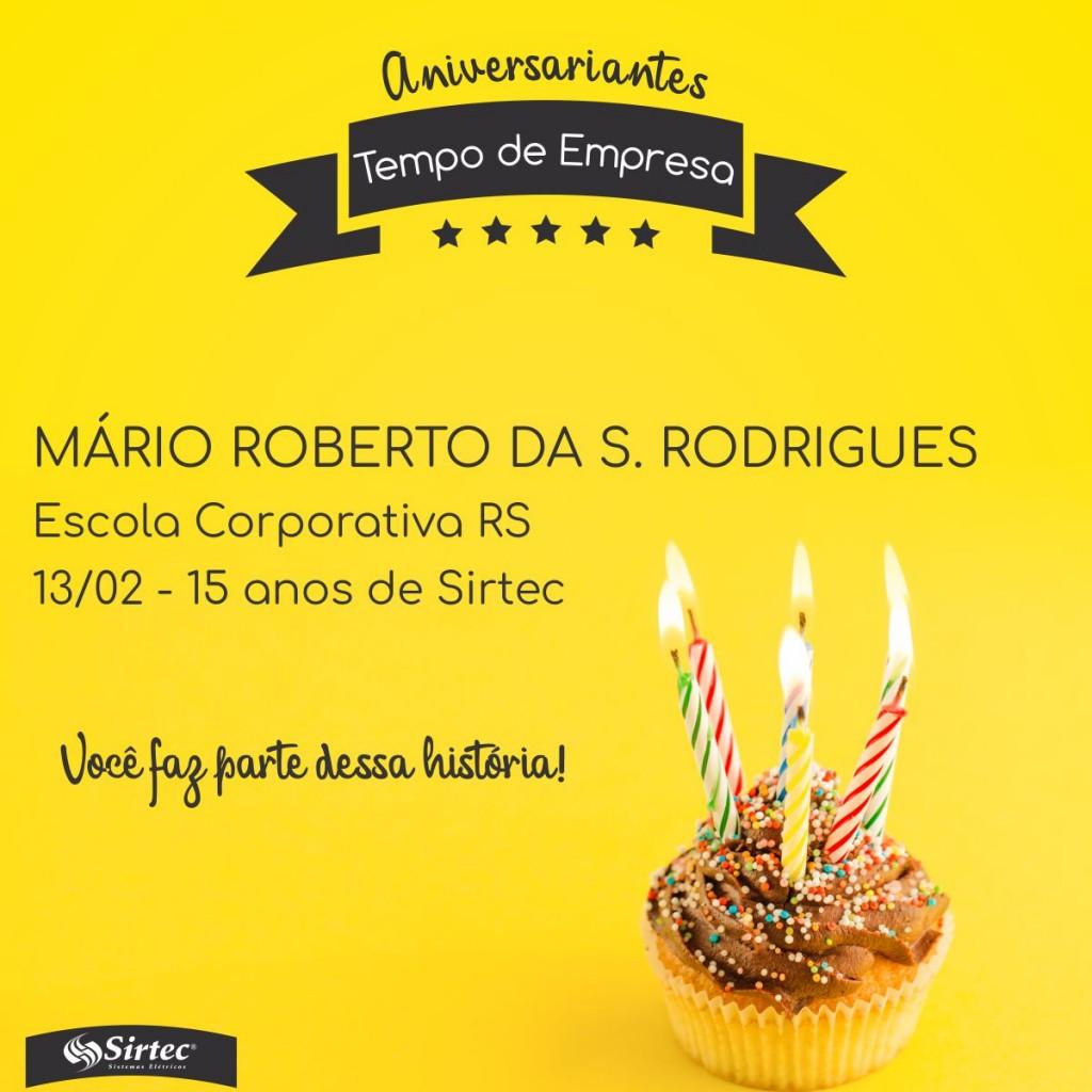 MARIO ROBERTO DA S. RODRIGUES CARTÃO