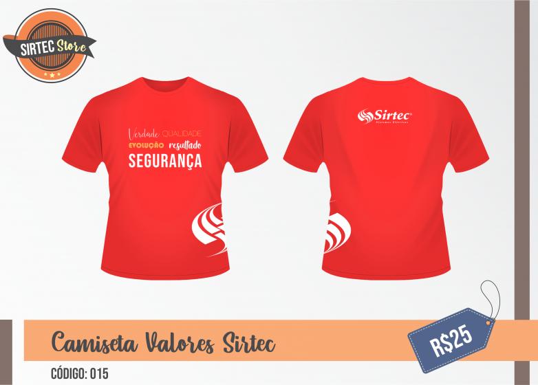Camiseta Valores Sirtec